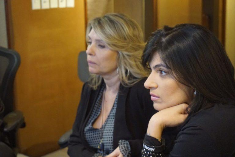 Marina de Oliveira e Fernanda Brum na última audição de CD Som Da Minha Vida