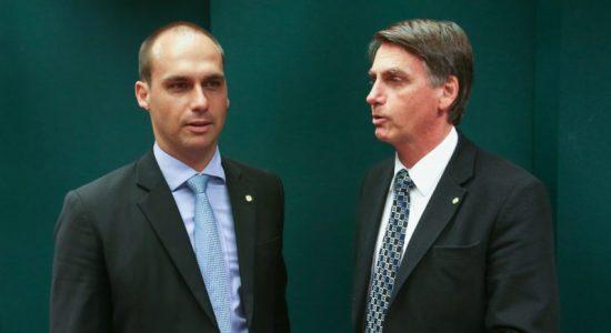 Deputado Eduardo Bolsonaro e presidente Jair Bolsonaro