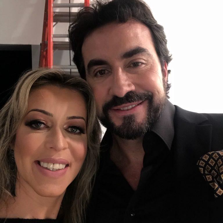 Adriana Arydes e padre Fábio de Melo