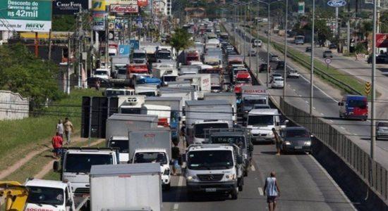 Caminhoneiros em greve