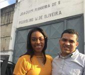 Elaine Martins e o marido, Oseas Chagas