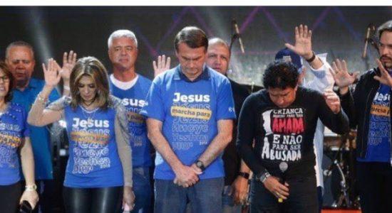 Jair Bolsonaro na Marcha para Jesus antes de ser presidente