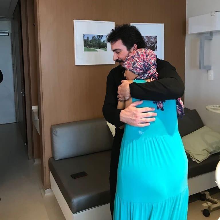 Padre atendeu desejo de paciente que queria conhecê-loPadre atendeu desejo de paciente que queria conhecê-lo