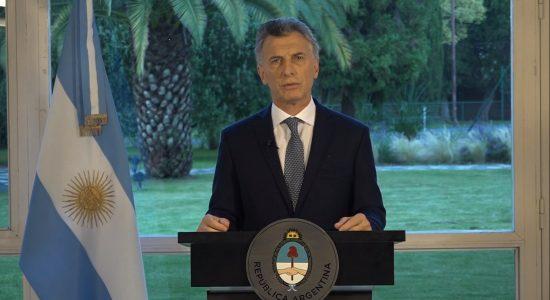 O presidente argentino, Mauricio Macri