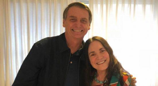 Regina Duarte pode assumir a Secretaria de Cultura de Bolsonaro