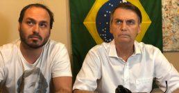 Vereador Carlos Bolsonaro e seu pai, o presidente Jair Bolsonaro