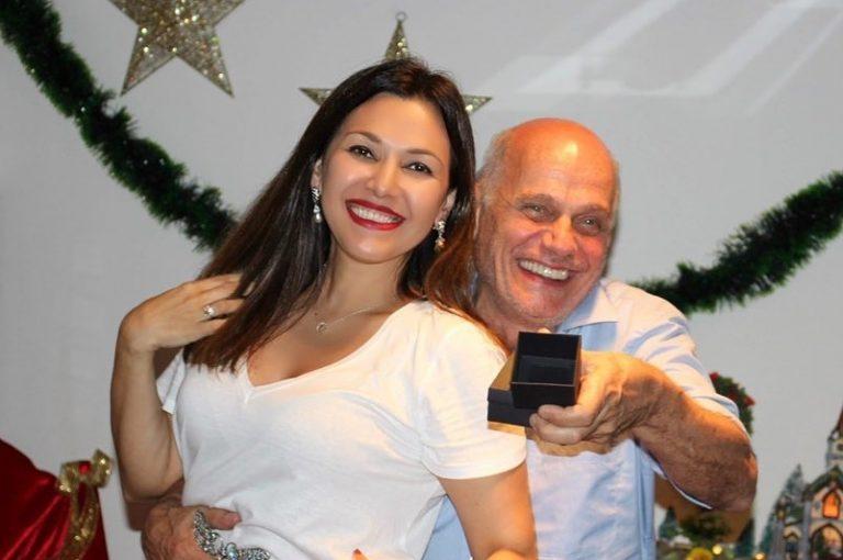 Boechat junto com a esposa Veruska