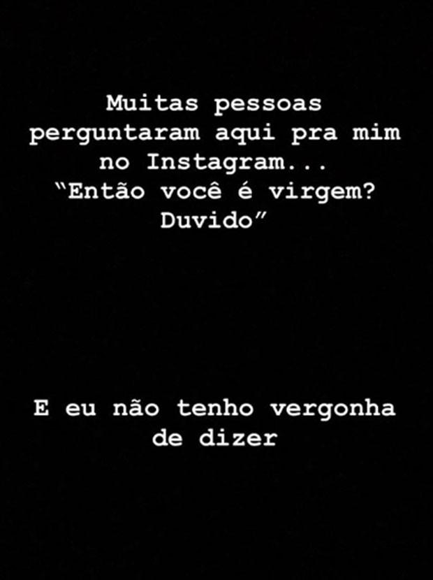 Thomaz Costa tem faldo de Jesus nas redes sociais