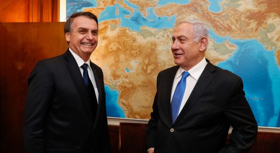 Presidente Jair Bolsonaro e primeiro-ministro de Israel, Benjamin Netanyahu