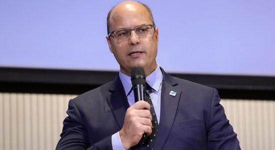 Governador do Rio de Janeiro, Wilson Witzel, em evento com presidente.
