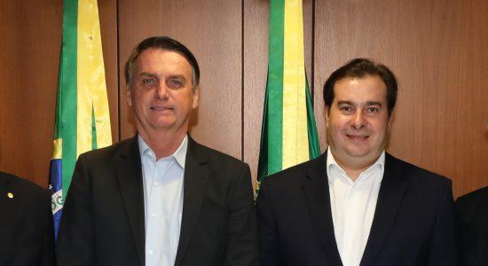 Presidente Jair Bolsonaro e presidente da Câmara dos Deputados, Rodrigo Maia