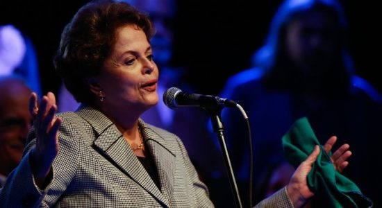 Dilma Rousseff durante discurso na Argentina