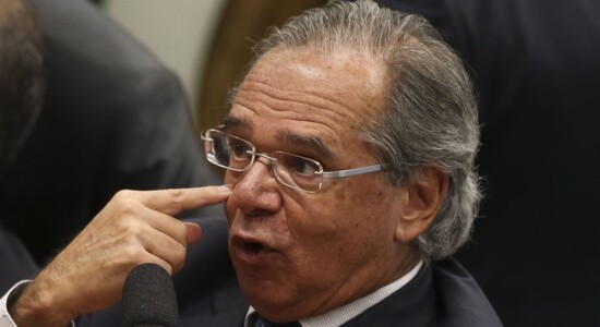 O ministro da Economia, Paulo Guedes, na Comissão de Constituição e Justiça (CCJ) da Câmara