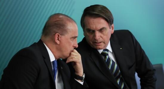 Ministro da Casa Civil, Onyx Lorenzoni, e presidente Jair Bolsonaro
