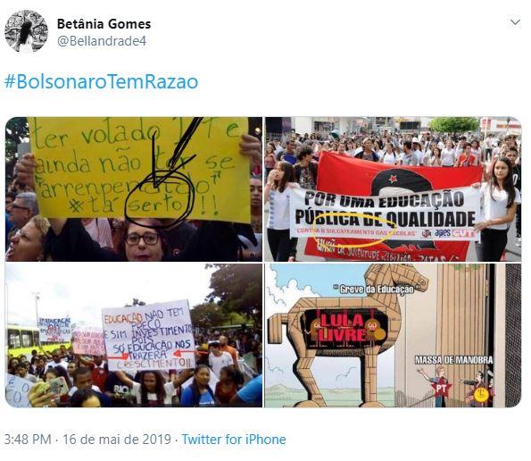 Tag de apoio ao presidente ficou em primeiro lugar no Twitter