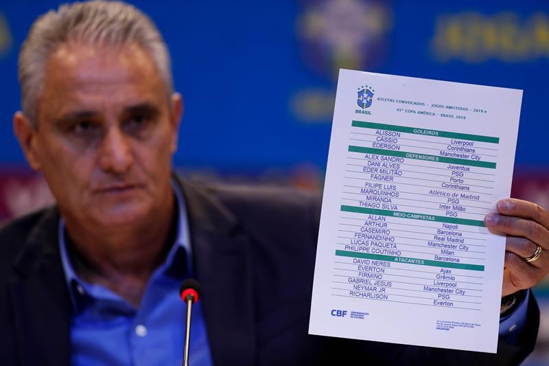 029bdbb3c Tite apresentou lista oficial da Seleção para a Copa América Foto   Reprodução