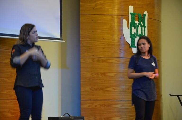 Michelle Bolsonaro foi ao aniversário do Ministério Incluir no sábado