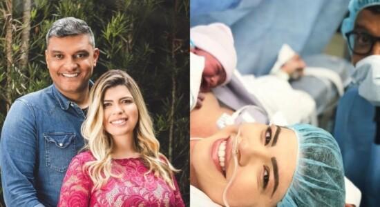 Tiago Brunet celebrou o nascimento da filha Yasmim
