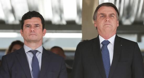 Ministro Sergio Moro e presidente Jair Bolsonaro