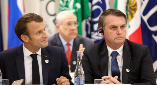 Macron ao lado de Bolsonaro no G20