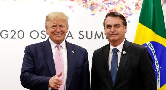 Presidentes Donald Trump e Jair Bolsonaro