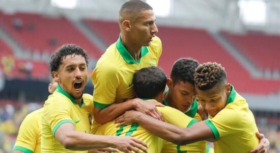 Seleção brasileira venceu Honduras por 7 a 0