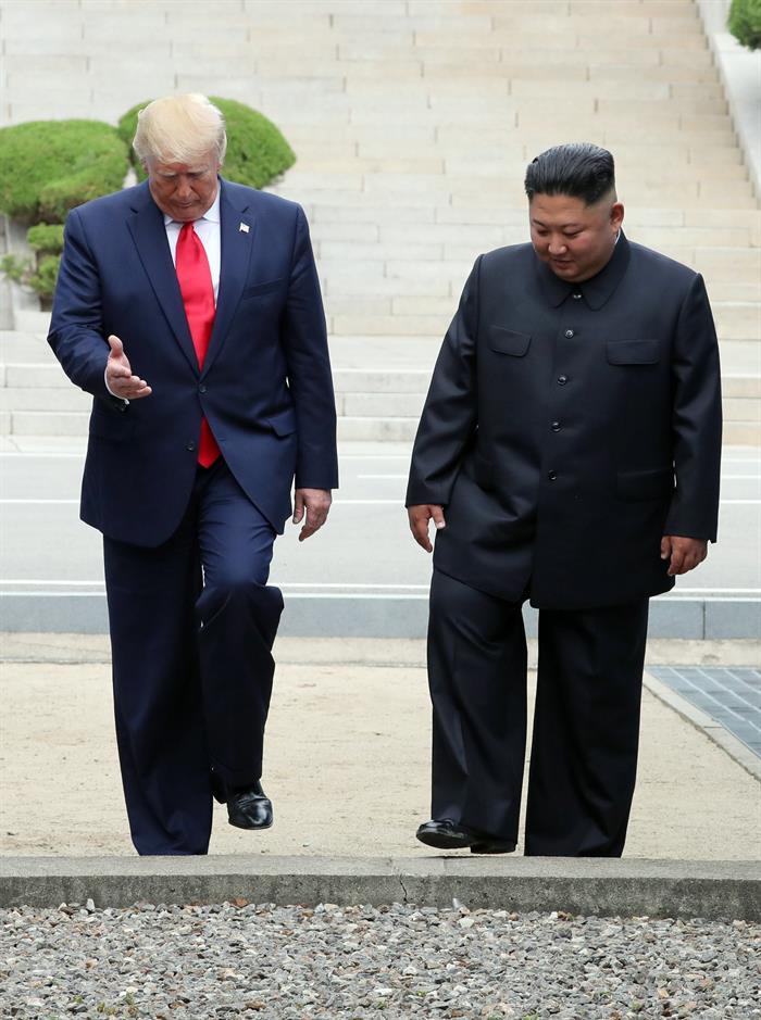 Donald Trump deu um novo passo para reatar a diplomacia entre Estados Unidos, Coreia do Norte e Coreia do Sul