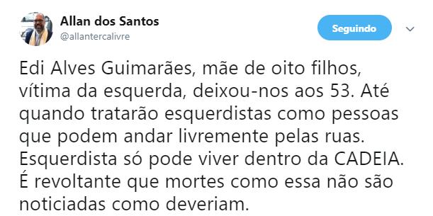 Nas redes sociais, internautas cobraram justiça por Edi Alves