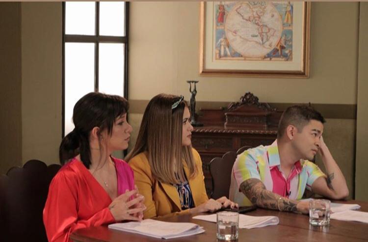 Maisa Silva, Yudi Tamashiro e Priscilla Alcantara gravam juntos