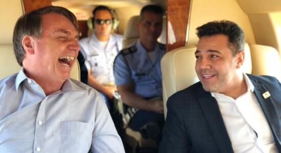Jair Bolsonaro e Marco Feliciano em viagem a São Paulo