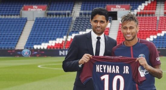 Neymar e Nasser Al-Khelaifi