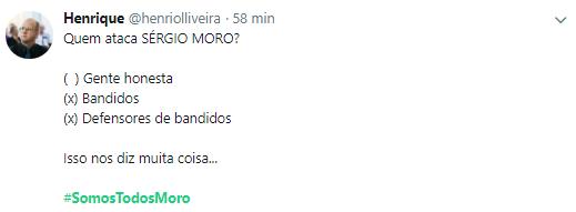 Usuários voltaram a se unir nas redes sociais para apoiar o ministro Sergio Moro