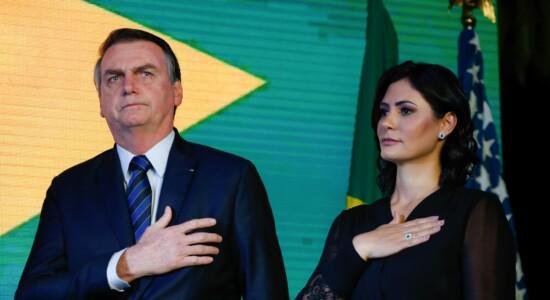 Presidente Jair Bolsonaro e Michelle Bolsonaro