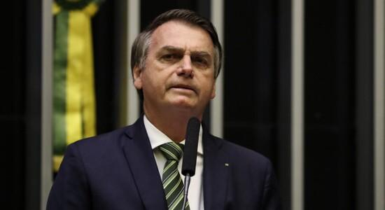 Presidente da República, Jair Bolsonaro, durante sessão solene em homenagem ao aniversário do Comando de Operações Especiais do Exército Brasileiro (COpEsp)