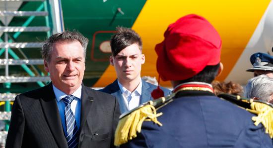 Jair Bolsonaro e o filho Jair Renan