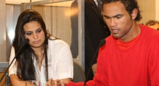Ingrid Calheiros e o goleiro Bruno
