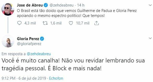 José de Abreu atacou Gloria Perez por apoiar o Pavão Misterioso