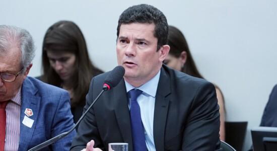 Ministro Sergio Moro em audiência na Câmara dos Deputados