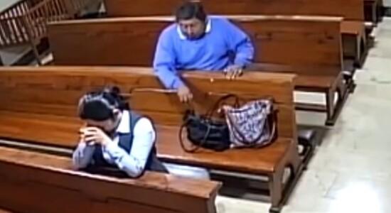 Furto a mulher em igreja