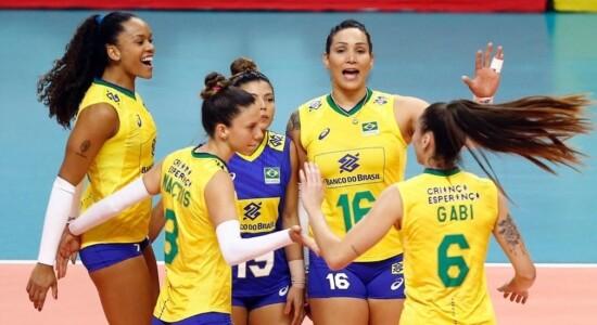Time brasileiro de vôlei feminino
