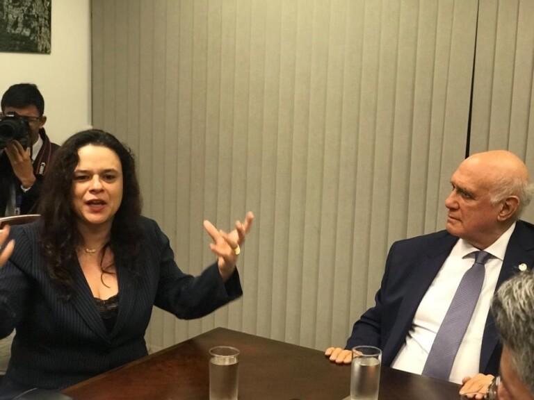 Encontro entre Janaina Paschoal e senadores sobre impeachment de Toffoli