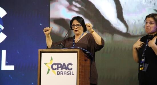 Damares Alves participa do CPAC Brasil, em São Paulo
