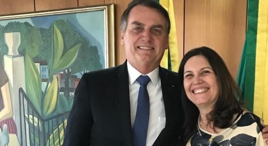 Bia Kicis e Jair Bolsonaro