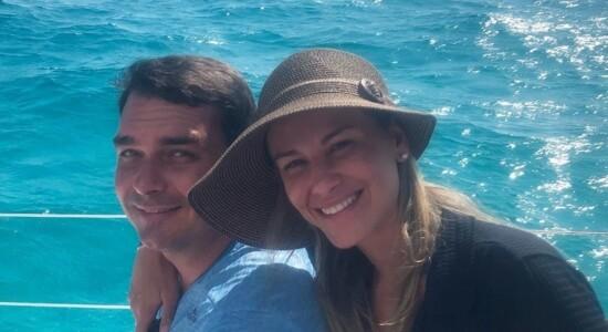 Flávio e Fernanda Bolsonaro