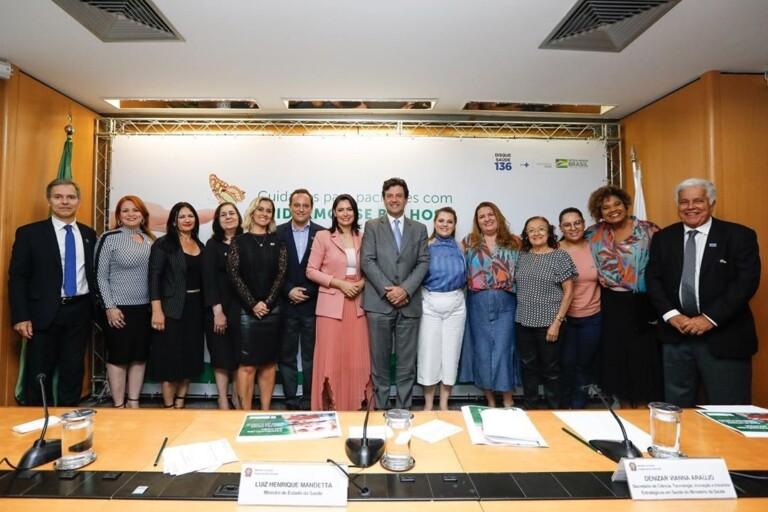 Michelle Bolsonaro durante lançamento de consulta pública sobre protocolo de tratamento de doença rara