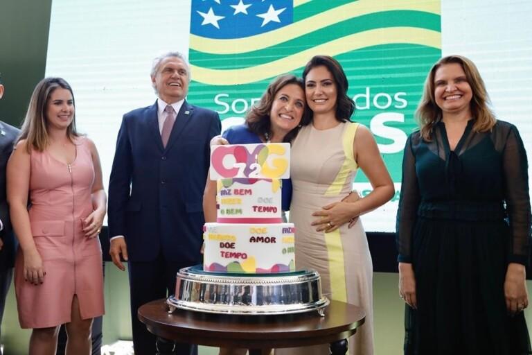 Michelle Bolsonaro em evento em Goiânia