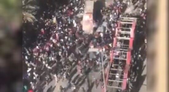 Ônibus atacado no Chile