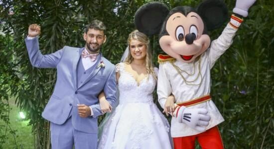 Noivo trouxe um pedaço da Disney para o casamento