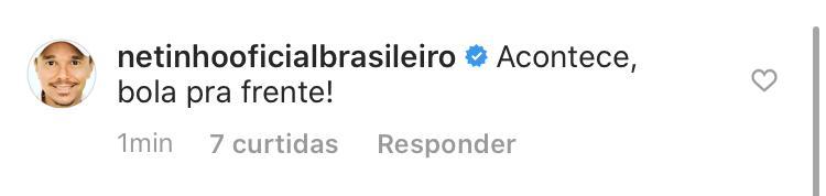 O cantor Netinho também comentou