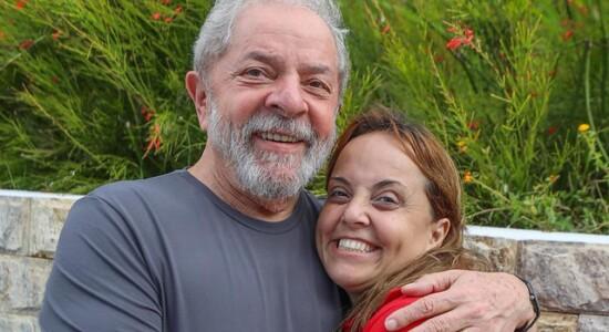 Luiz Inácio Lula da Silva e a filha Lurian